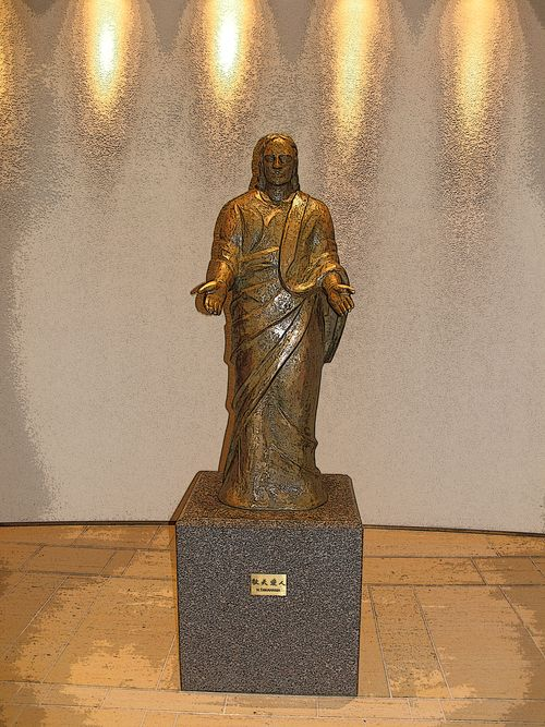 九州学院のイエス像